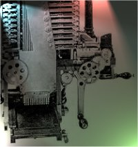 An impression of Babbage's Analytical Engine.